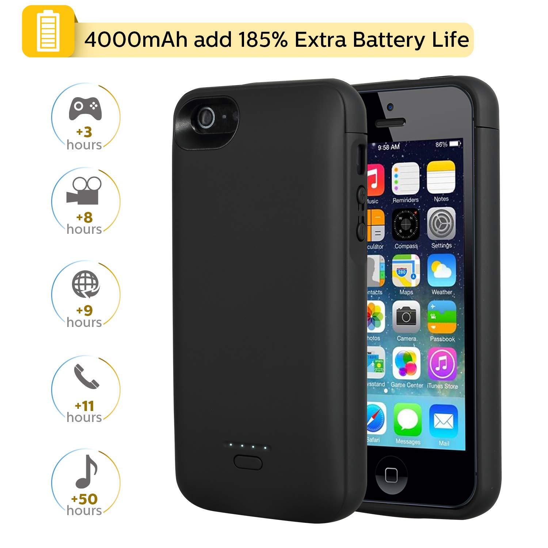 Coque batterie iPhone 5 et 5S Noir